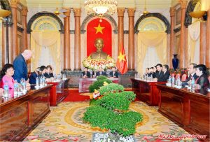 chủ tịch nước Trần Đại Quang và các nhà tài trợ