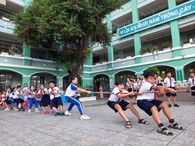 Bidrico tổ chức chơi kéo co cho các em trường An Hội
